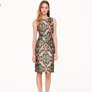 JCrew Collection Misty Fog Floral Dress